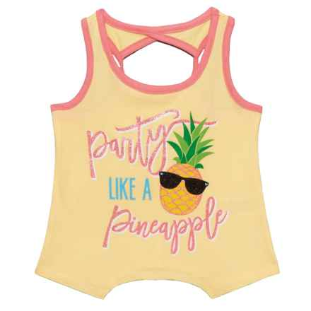 Star Ride Graphic Tank Top (For Little Girls) in Party Like A Pineapple/Yellow Multi - Closeouts