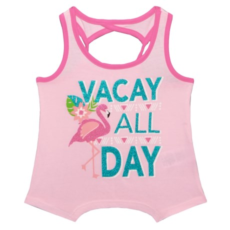 Star Ride Graphic Tank Top (For Little Girls) in Vacay All Day/Pink Multi