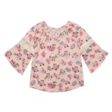 Star Ride Ruffle Floral Shirt - Long Sleeve (For Big Girls)