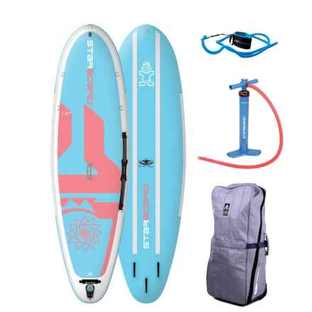 Starboard Inflatable Yoga Dashama Stand-Up Paddle Board - 10' in Light Blue/Coral