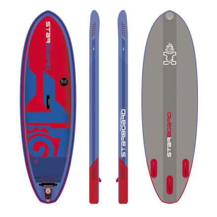 "Starboard Kids Zen Inflatable Stand-Up Paddle Board - 8'x2'4"" in Blue/Red - Closeouts"