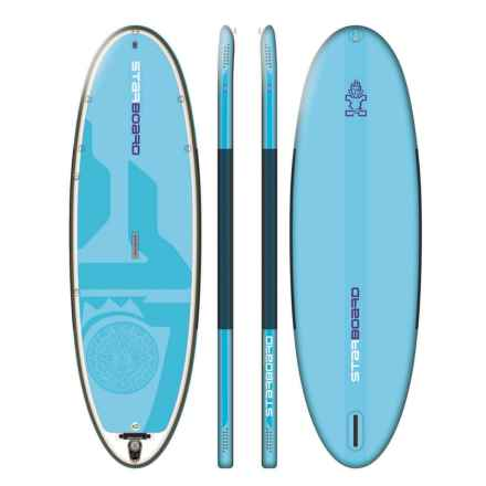 "Starboard Serenity Yoga Inflatable Stand-Up Paddle Board - 11'2""x3'4"" in Light Blue - Closeouts"