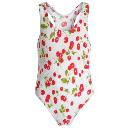 Starfish One-Piece Swimsuit (For Big Girls) in Cherry - Closeouts