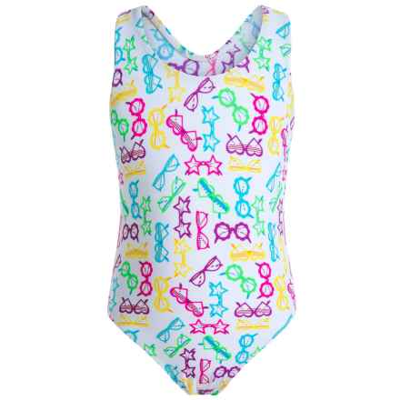 Starfish One-Piece Swimsuit (For Little Girls) in Sunglasses - Closeouts