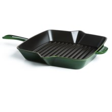 "Staub American Cast Iron Grill Pan - 10"" in Basil - Closeouts"
