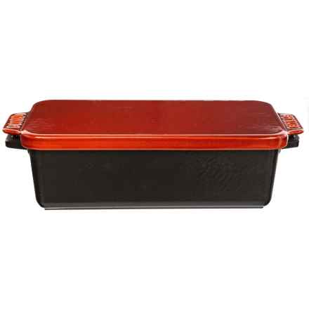 Cast Iron Covered Loaf Pan - 1.5 qt. in Black/Rouge Red - Closeouts
