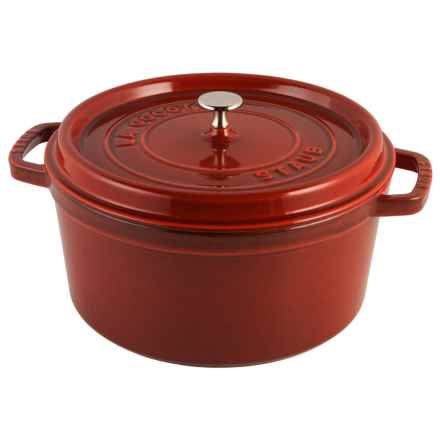 Staub Cast-Iron Round Cocotte - 7 qt. in Red - Closeouts