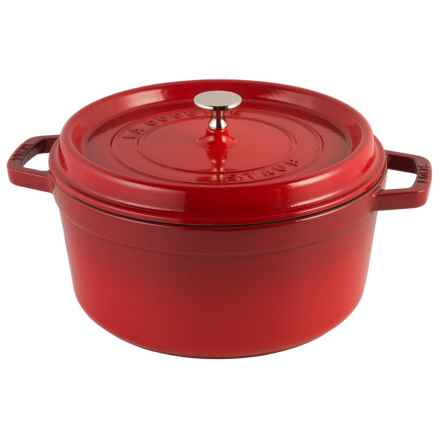 Staub Cast Iron Round Cocotte with Lid - 5.5 qt. in Cherry - Closeouts