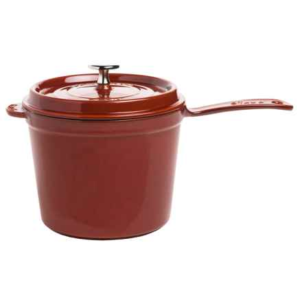 Staub Cast-Iron Saucepan - 3 qt. in Red - Closeouts