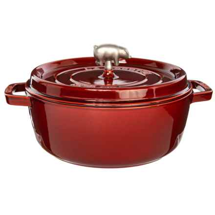 Cast Iron Shallow Round Cocotte - 6 qt. in Red - Closeouts