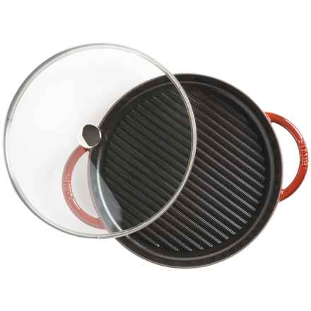 "Staub Cast-Iron Steam Grill - 12"" in Red - Closeouts"