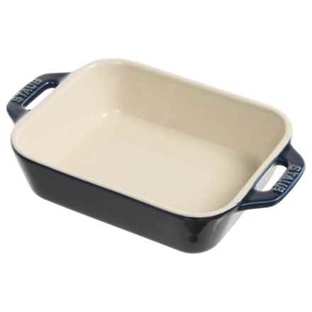 "Staub Ceramic Rectangle Gratin Dish - 7.5x4.75"" in Blue - Closeouts"