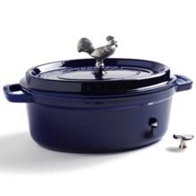 Staub Coq Au Vin Cocotte - Enameled Cast Iron, 4.25 qt. in Dark Blue - Closeouts