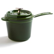 Staub Covered Sauce Pan - Enameled Cast Iron, 1.25 qt. in Basil - Closeouts