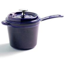 Staub Covered Sauce Pan - Enameled Cast Iron, 1.25 qt. in Dark Blue - Closeouts
