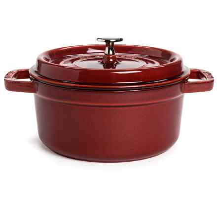 Staub Round Cocotte - 2.75 Qt., Cast Iron in Red - 2nds