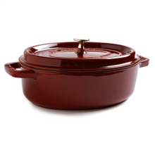Staub Shallow Round Cocotte - Enameled Cast Iron, 4 qt. in Red - Closeouts