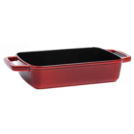 "Staub Small Cast-Iron Baking Pan - 8x12"" in Red - Closeouts"