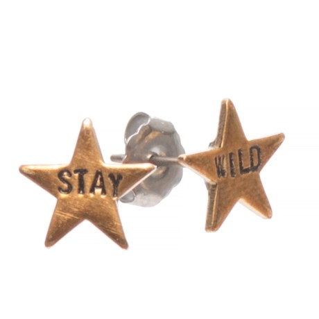 Stay Wild Stars Earrings with Titanium Posts