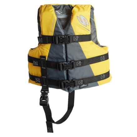 Stearns Child Watersport Classic Series Type III PFD Life Jacket in Yellow - Closeouts