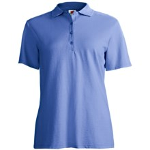 Stedman by Hanes Ring-Spun Cotton Pique Polo Shirt - Short Sleeve (For Women) in Medium Blue - Closeouts