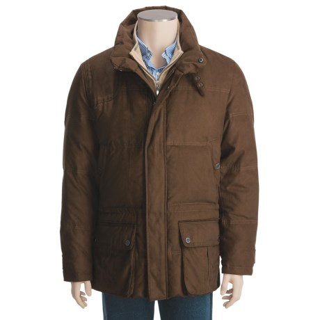 Steinbock Goose Down Car Coat (For Men) in Brown