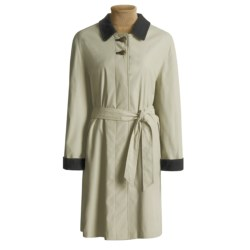 Steinbock Microfiber Car Coat - Wool Lined (For Women) in Beige