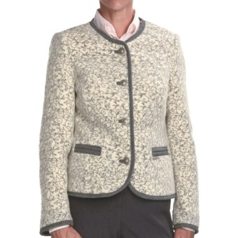 Steinbock Tyrolian Wool Blazer (For Women) in White