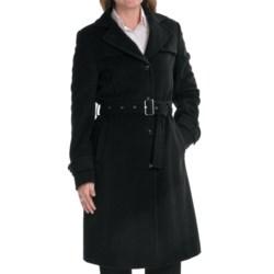 Steinbock Wool-Angora Coat (For Women) in Black
