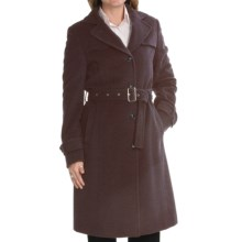 Steinbock Wool-Angora Coat (For Women) in Dark Brown - Closeouts
