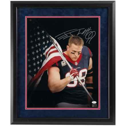 "Steiner Sports J.J. Watt Signed U.S. Flag Photo - 16x20"" in See Photo - Closeouts"