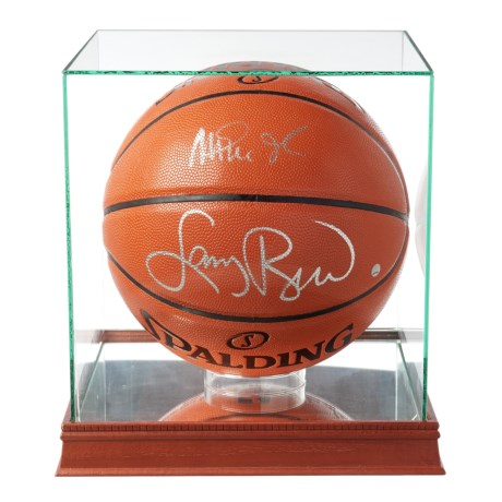 Steiner Sports Larry Bird and Magic Johnson Dual-Signed Basketball in See Photo