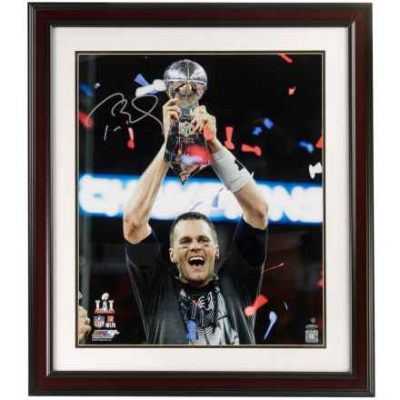 Steiner Sports Tom Brady Signed Framed Photo - Championship Trophy in See Photo - Closeouts