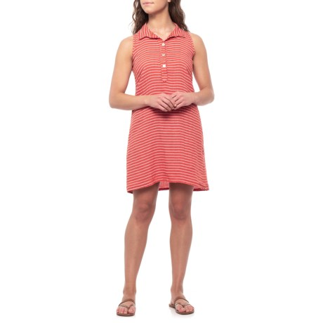 0ccb01a095 Stella Martini Made in Italy Paprika Stripe Linen Shirt Dress - Sleeveless  (For Women)