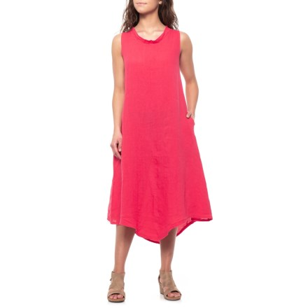 7600ff9193b Stella Martini Made in Italy Strawberry Linen Maxi Dress - Sleeveless (For  Women) in