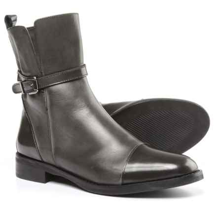 Stelle Monelle Cap-Toe Boots - Patent Leather (For Women) in Grey - Closeouts