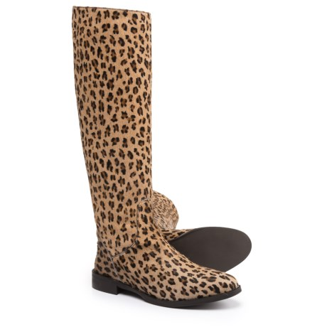 Stelle Monelle Made in Italy Calf Hair Tall Boots (For Women) in Leopard Prnt