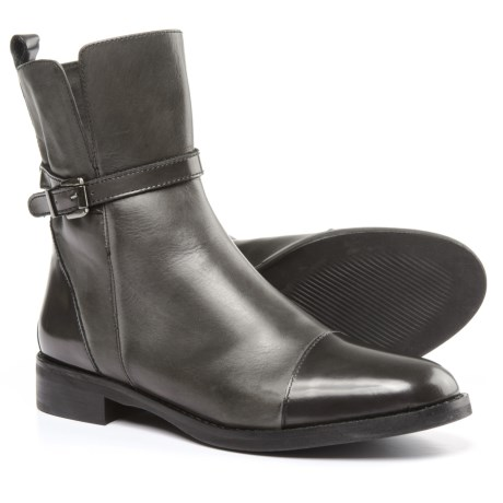 Stelle Monelle Made in Italy Cap-Toe Boots - Patent Leather (For Women) in Grey