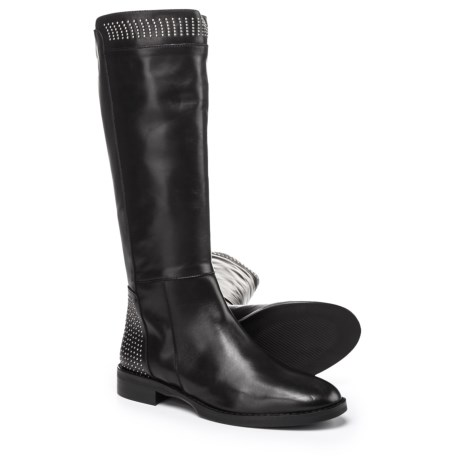 Stelle Monelle Made in Italy Micro Studded Tall Boots - Leather (For Women) in Black