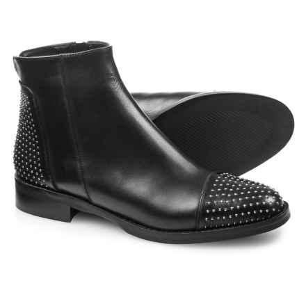 265d36dbf3f Stelle Monelle Made in Italy Studded Toe Booties - Leather (For Women) in  Black