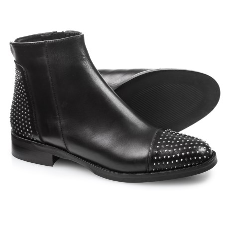 Stelle Monelle Made in Italy Studded Toe Booties - Leather (For Women) in Black