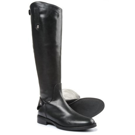 boots leather Woman black in