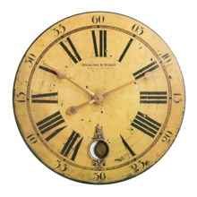 "Sterling & Noble 29"" Frameless Pendulum Wall Clock in Antique Wood - Closeouts"