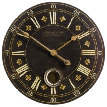 "Sterling & Noble 29"" Frameless Pendulum Wall Clock in Antique-Wood - Closeouts"