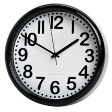 "Sterling & Noble Black Trim Clock - 8.75"" in Black - Closeouts"
