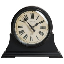 "Sterling & Noble Mantel Clock - 10.25"" in Black - Closeouts"