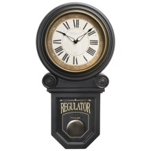 Sterling & Noble Regulator Pendulum Wall Clock in See Photo - Closeouts