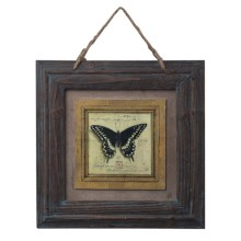 Sterling English Harden Oak Picture Frame with Butterfly Print in Butterfly - Closeouts