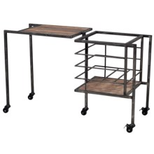 Sterling Industries Industrial Fold-Away Storage Bench in Restoration Black - Closeouts