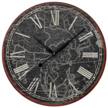 Sterling Industries Map of the Work Printed Wall Clock in See Photo - Closeouts